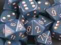 Chessex: Polyhedral Dice Set - Opaque Dusty Blue w/Copper (7)