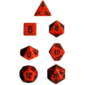 Chessex: Polyhedral Dice Set - Speckled Fire (7)