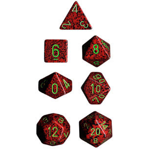 Chessex: Polyhedral Dice Set - Speckled Strawberry (7)