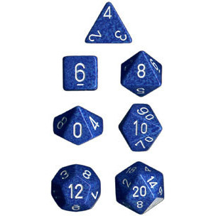Chessex: Polyhedral Dice Set - Speckled Water (7)