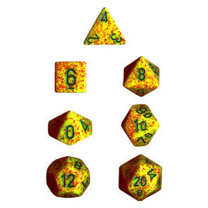 Chessex: Polyhedral Dice Set - Speckled Lotus (7)