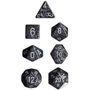 Chessex: Polyhedral Dice Set - Speckled Ninja (7)
