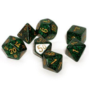 Chessex Dice Set: Speckled Golden Recon (7)