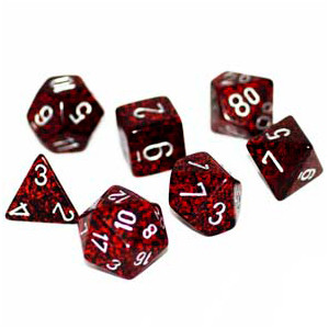 Chessex: Polyhedral Dice Set - Speckled Silver Volcano (7)