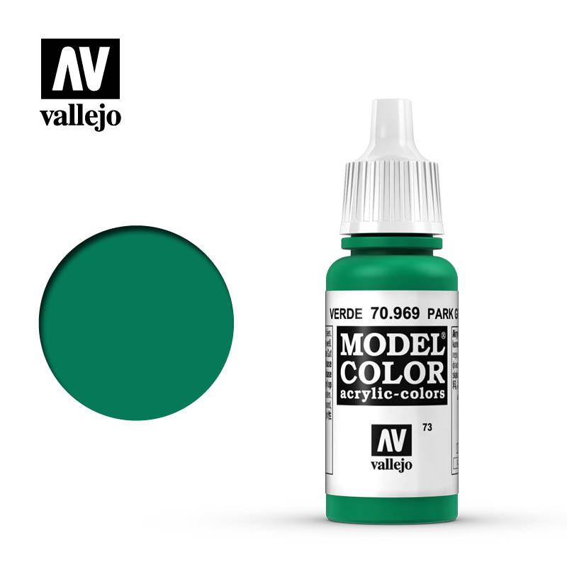 Vallejo Model Color Paint: Park Green Flat