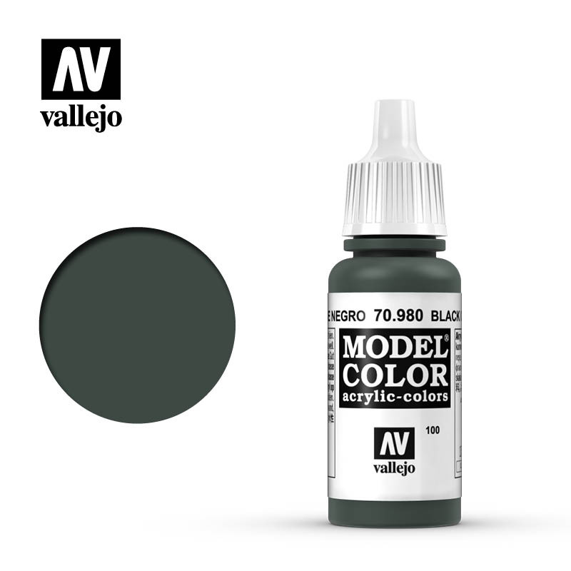 Vallejo Model Color Paint: Black Green