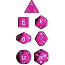 Chessex Dice Set: Opaque Light Purple w/White (7)