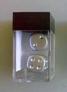 Chessex: Silver-Plated 16mm D6 (2)