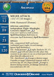 Angelfire Archmage (Promo Stat Card - EPIC)