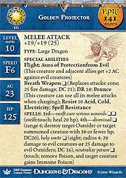 Dragon Queen Golden Protector (Promo Stat Card - EPIC)