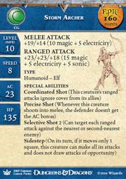 Dragon Queen Storm Archer (Promo Stat Card - EPIC)