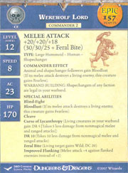 Unhallowed Werewolf Lord (Promo Stat Card - EPIC)