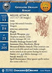 Blood War Githyanki Dragon Knight (Promo Stat Card - EPIC)