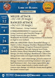 Blood War Lord of Blades (Promo Stat Card - EPIC)