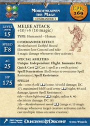 Giants of Legend Mordenkainen the Mage (Promo Stat Card -EPIC)
