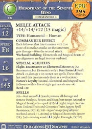 Night Below Hierophant of the Seventh Wind (Promo Stat Card - EPIC)