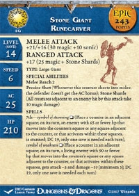 Unhallowed Stone Giant Runecarver (Promo Stat Card - EPIC)