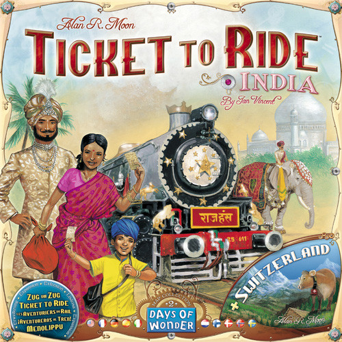 Ticket to Ride India and Switzerland Map Collection Volume 2