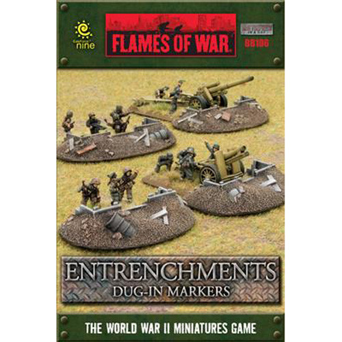 Flames of War: Battlefield in a Box - Entrenchments Dug-In Markers
