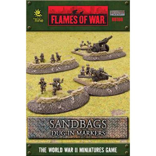 Flames of War: Battlefield in a Box - Sandbags Dug-In Markers
