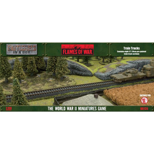 Flames of War: Battlefield in a Box - Train Tracks