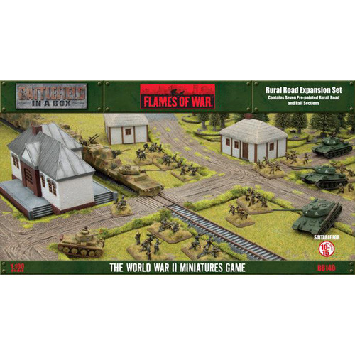 Flames of War: Battlefield in a Box - Rural Road Expansion Set