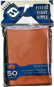 Fantasy Flight Sleeves: Standard Card Game Size - Red (50)