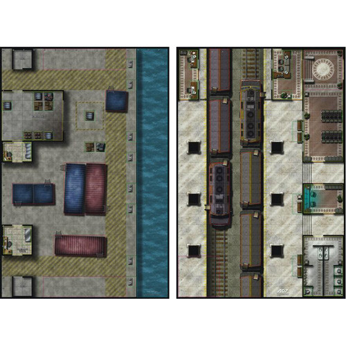 Mighty Maps #1 Train Station /The Docks Double-Sided Map
