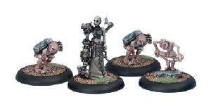 Warmachine: Cryx - Necro-Surgeon & Stitch Thralls (4)