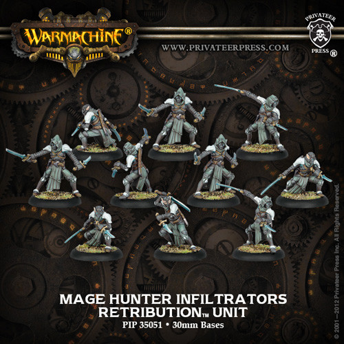 Warmachine: Retribution - Mage Hunter Infiltrators Unit Box (10)