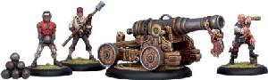Warmachine: Mercenaries - Privateer Commodore Cannon & Crew