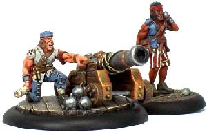 Warmachine: Mercenaries - Sea Dog Deck Gun Crew