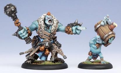 Hordes: Trollbloods - Warlock Borka Kegslayer & Pyg Keg Carrier