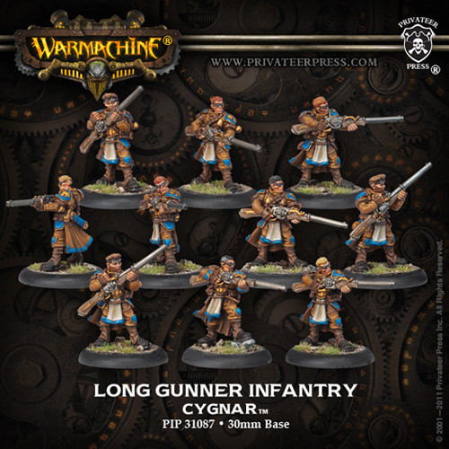 Warmachine: Cygnar - Long Gunners Infantry Unit Box (10)
