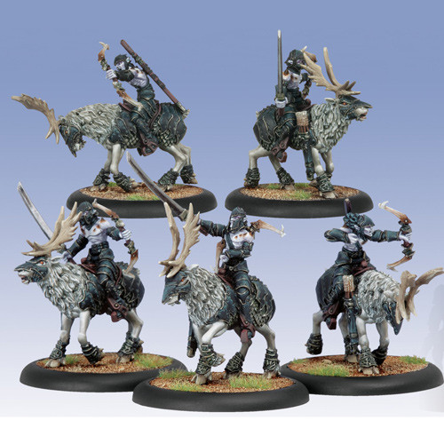 Hordes: Legion - Blighted Nyss Raptors Cavalry Unit Box (5)