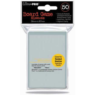 Ultra Pro Board Game Sleeves: Standard American (56mm x 87mm) (50)