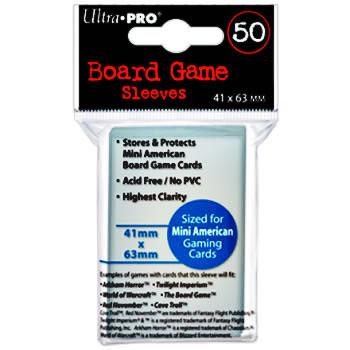 Ultra Pro Board Game Sleeves: Mini American (41mm x 63mm) (50)