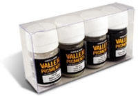Vallejo Pigment - Set 4: Snow, Soot, Ashes, Industrial Grime