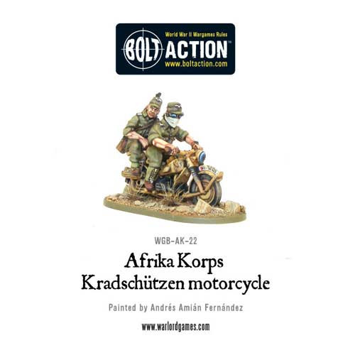 Bolt Action: Afrika Korps Kradschutzen Motorcycle