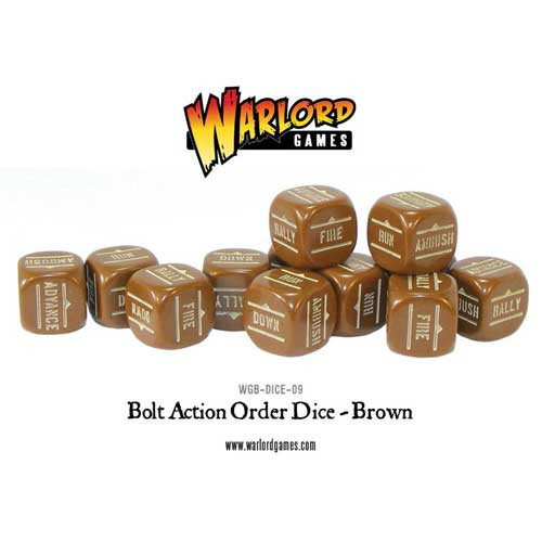 Bolt Action: Orders Dice - Brown (12)