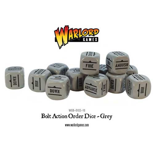 Bolt Action: Orders Dice - Grey (12)