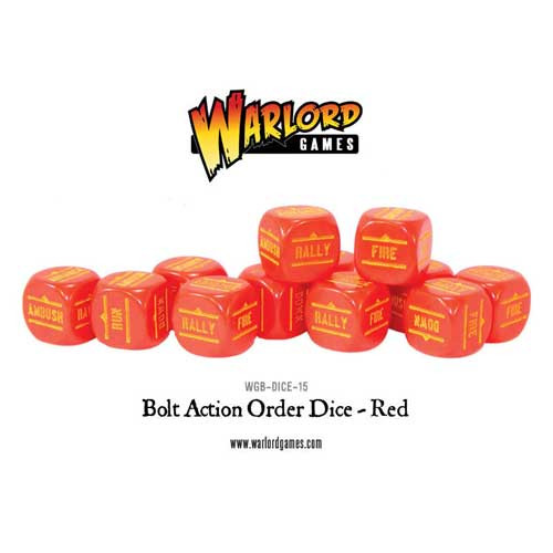 Bolt Action: Orders Dice - Red (12)