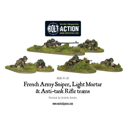 Bolt Action: French Army Sniper, Light Mortar & AT Rifle Teams