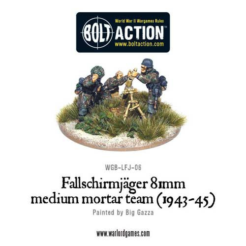 Bolt Action: Fallschirmjager 81mm Medium Mortar Team