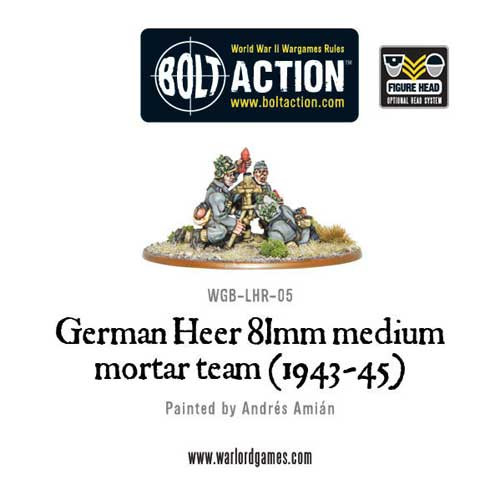Bolt Action: German Heer 81mm Medium Mortar Team