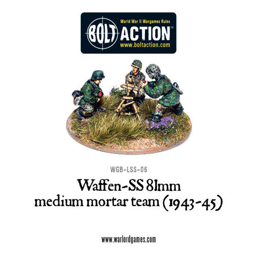 Bolt Action: Waffen-SS 81mm Medium Mortar Team