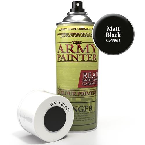Army Painter Color Primer: Matte Black