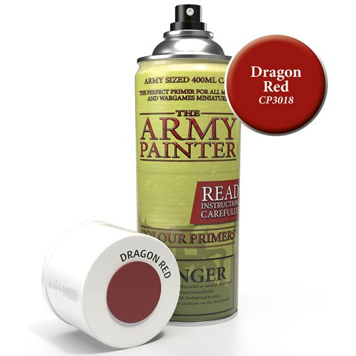 Army Painter Base Primer: Dragon Red