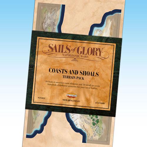 Sails of Glory: Coasts & Shoals Terrain Pack