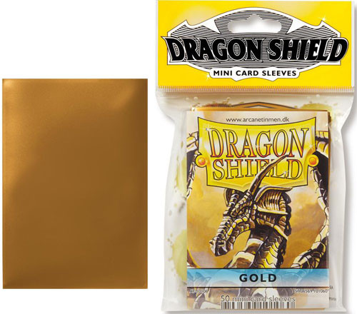 Dragon Shield Sleeves: Classic - Japanese Size - Gold (50)